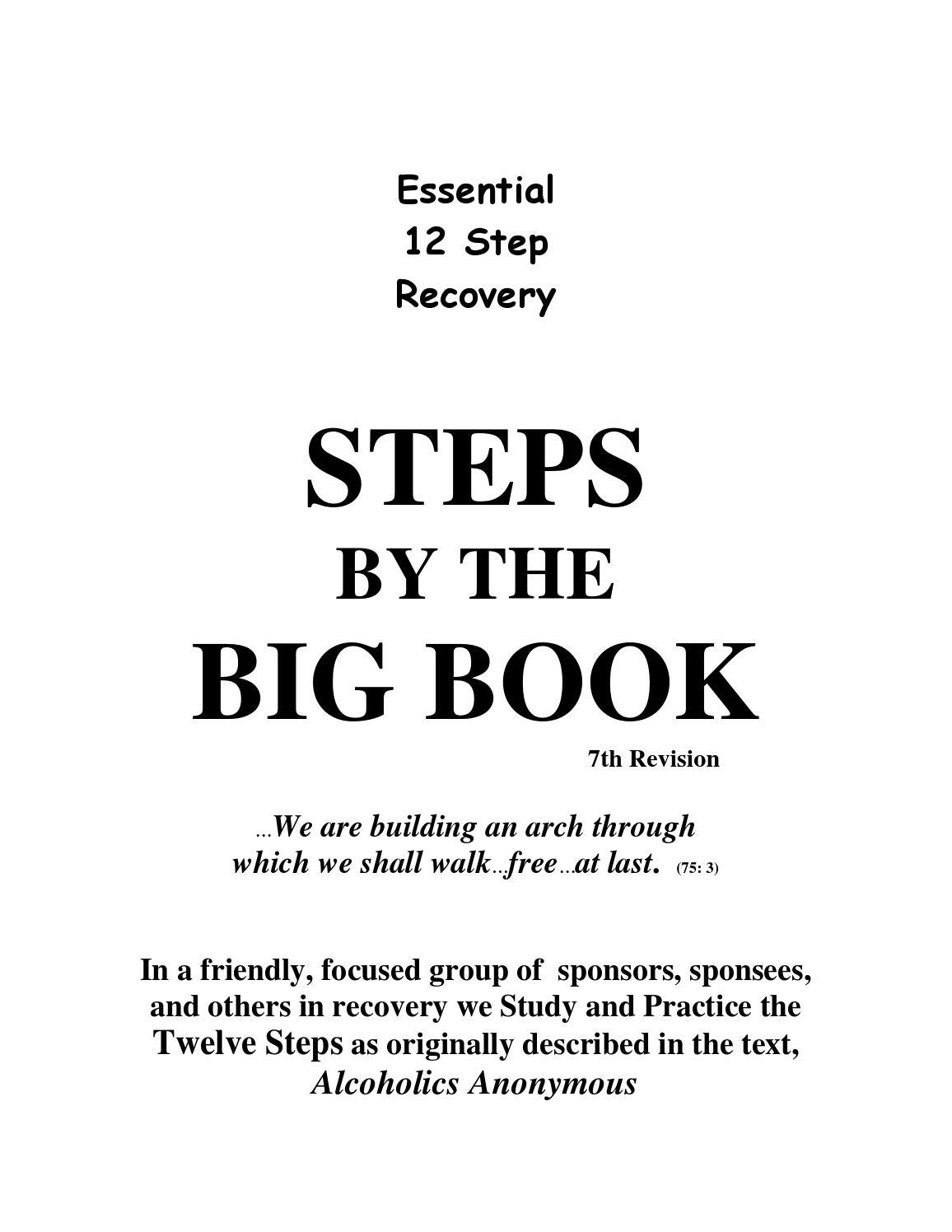 Workbooks recovery dynamics worksheets : Denverdonate com essential 12 step recovery steps for the big book ...