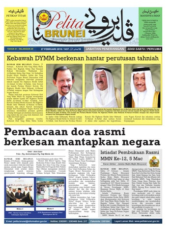 Pelita Brunei Sabtu 27 Feb 2016 By Putera Katak Brunei Issuu