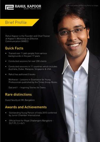 Rahul kapoor Motivational Speakers India by Rahul Kapoor