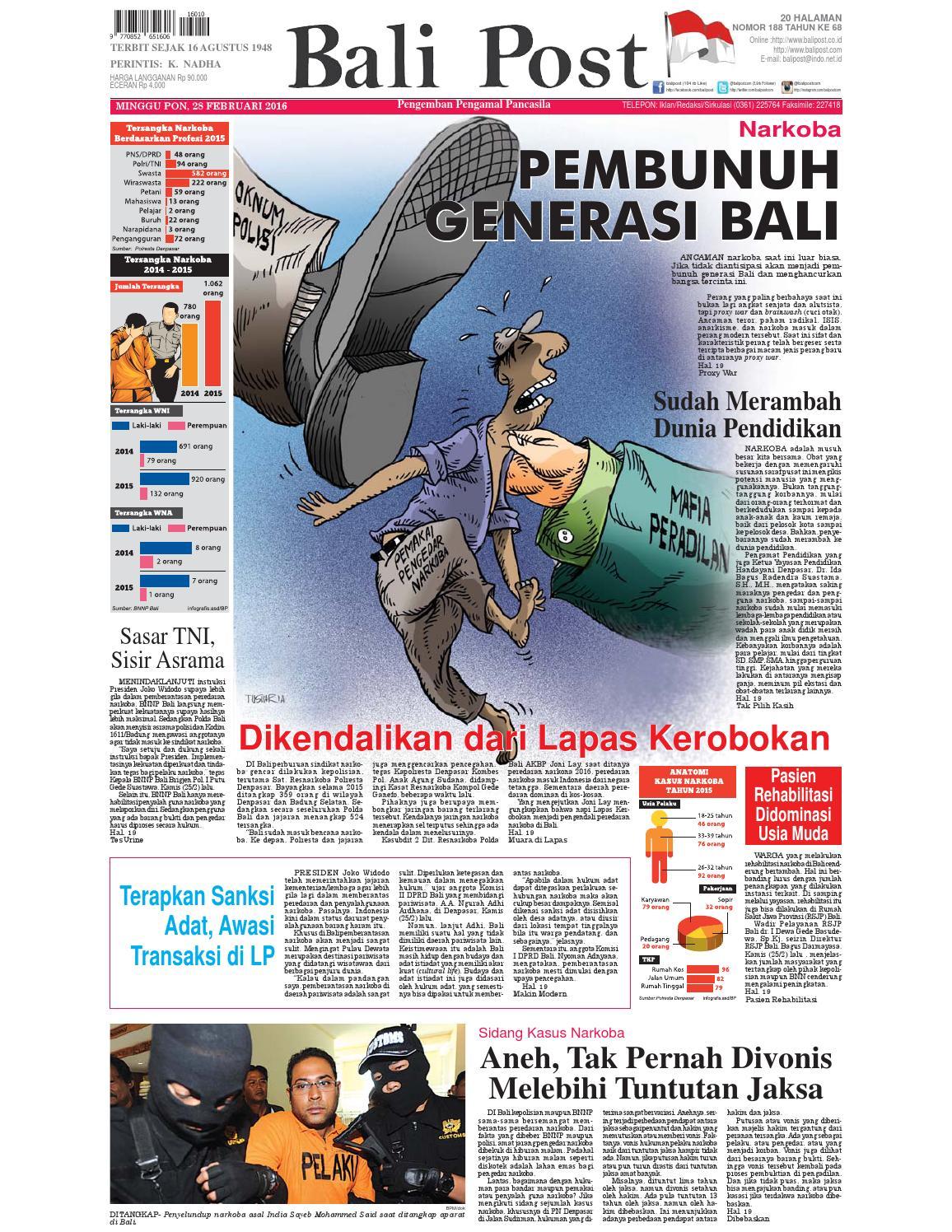 Edisi 28 Februari 2016 Balipostcom By E Paper KMB Issuu