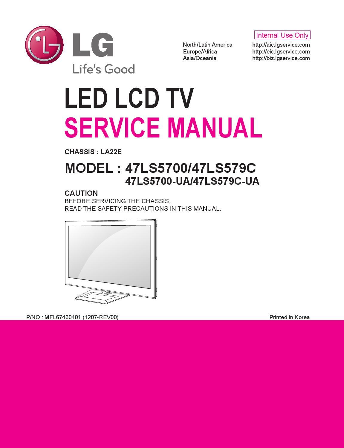 Manual De Servi U00e7o Televisores De Led  Marca Lg  Modelos