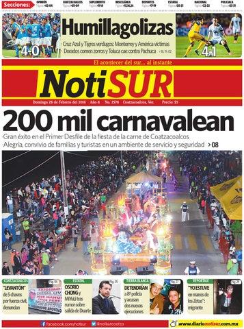 fdc1bdc4d NotiSUR 28 de febrero 2016 by Diario NotiSUR Coatzacoalcos 2015 ...