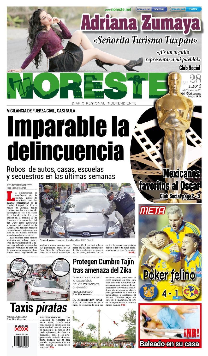 Versi N Impresa 28 De Febrero De 2016 By Noreste Diario Regional  # Muebles Metalicos Juquila