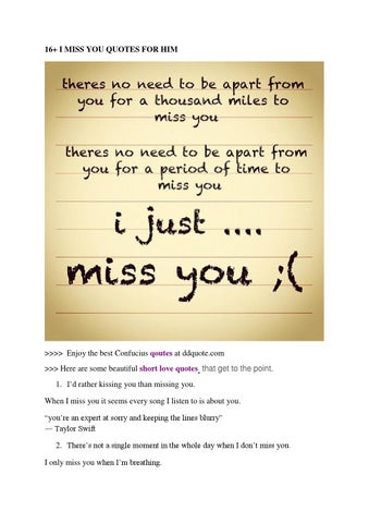Quotes I Miss You For Him By Hoàng Việt Issuu