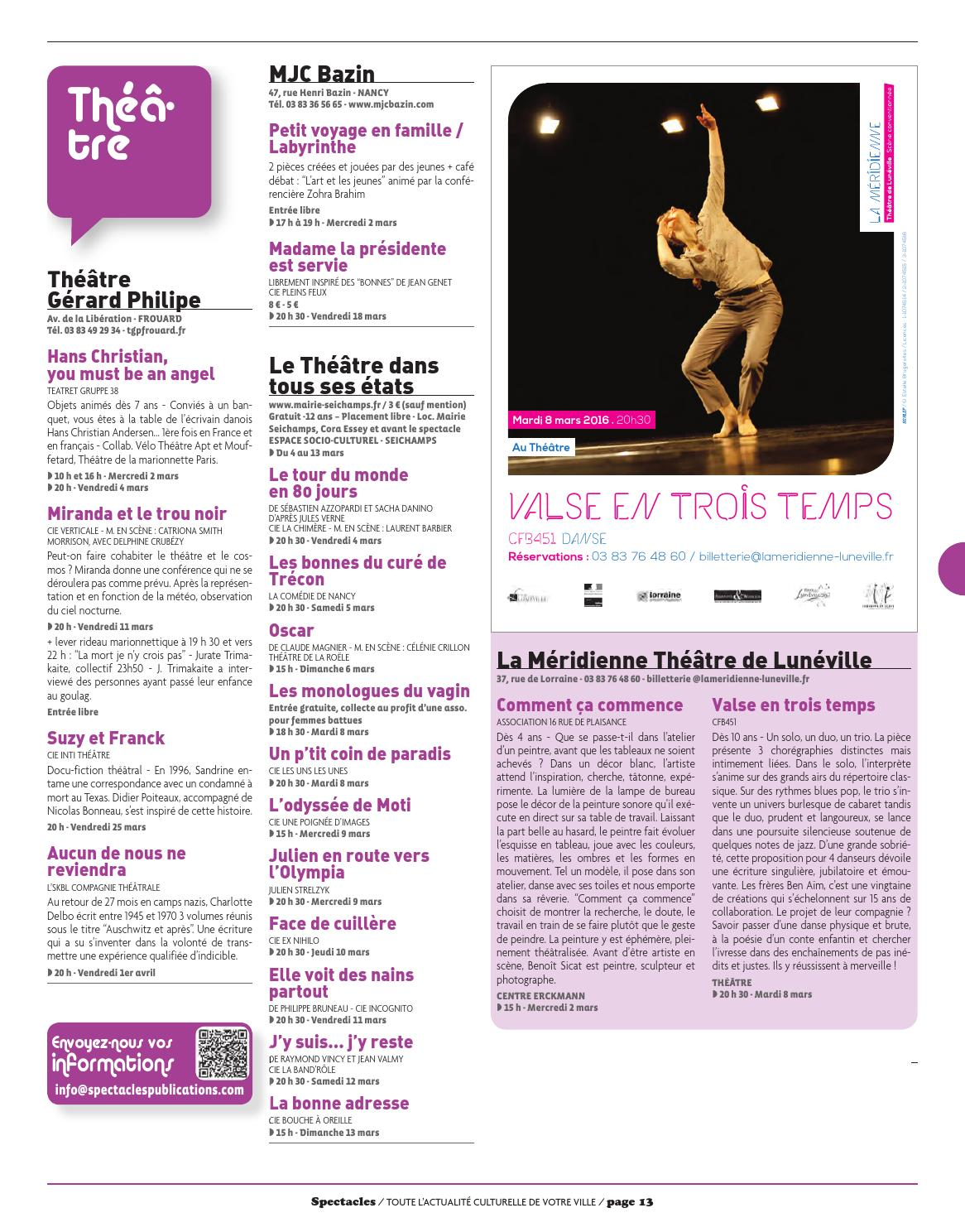 Spectacles Publications Nancy N324 Mars 2016 By