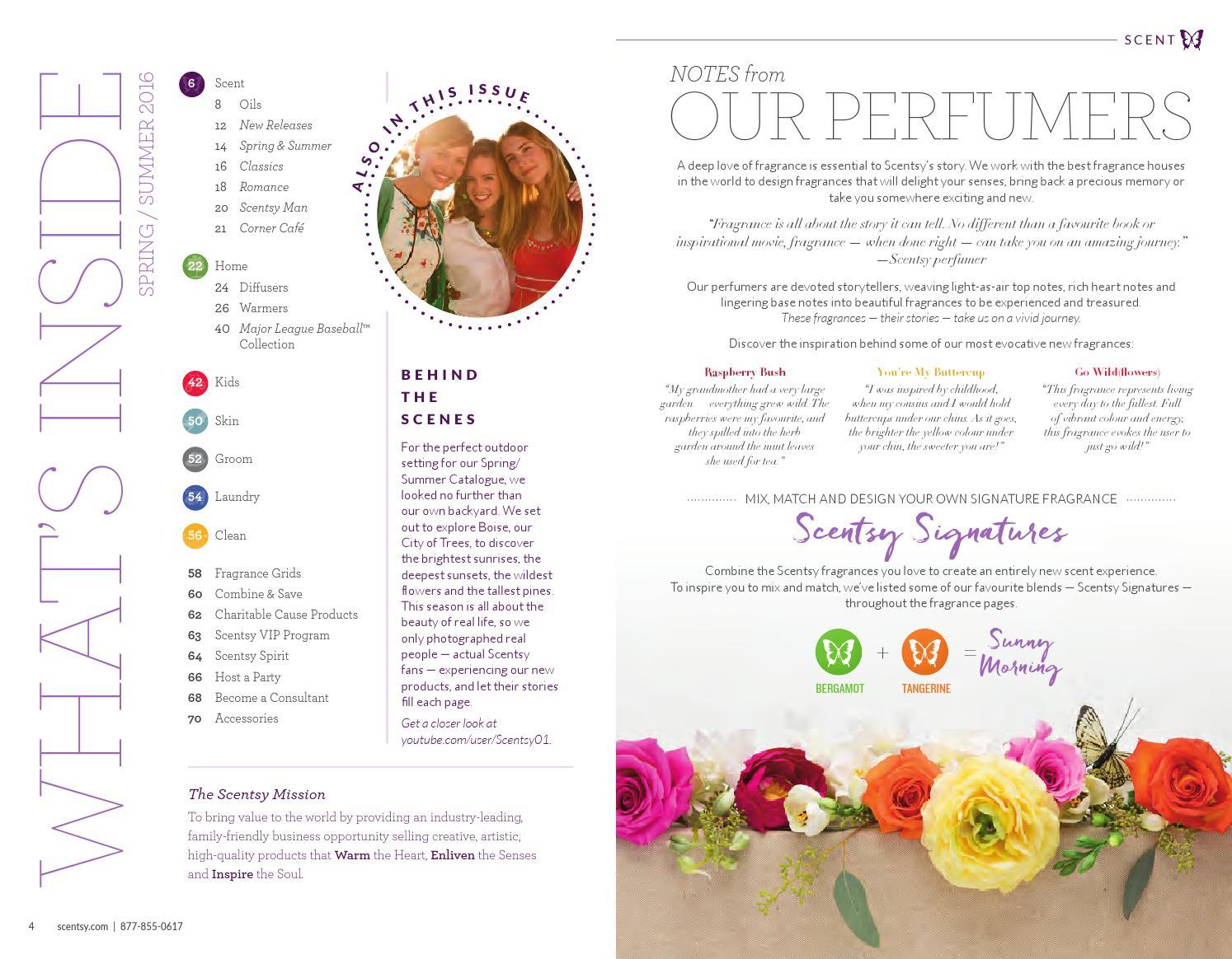 Spring Summer Scentsy Catalog 2016