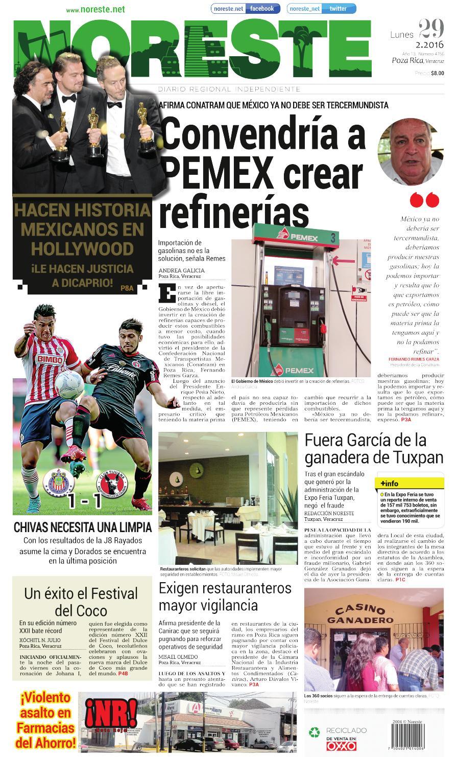Versi N Impresa 29 Febrero 2016 By Noreste Diario Regional  # Cota Muebles Teziutlan