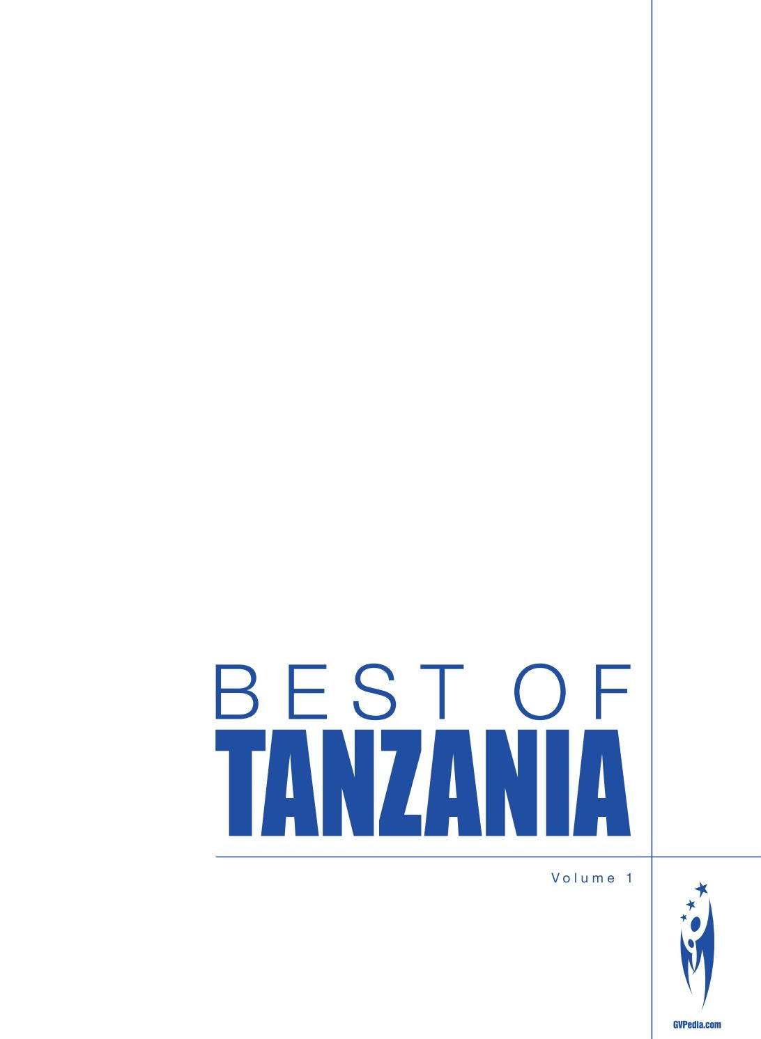 BEST OF TANZANIA - Volume 1 by Sven Boermeester - issuu