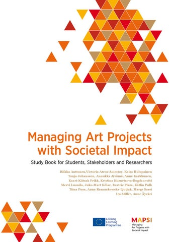 Managing Art Projects With Societal Impact Study Book For
