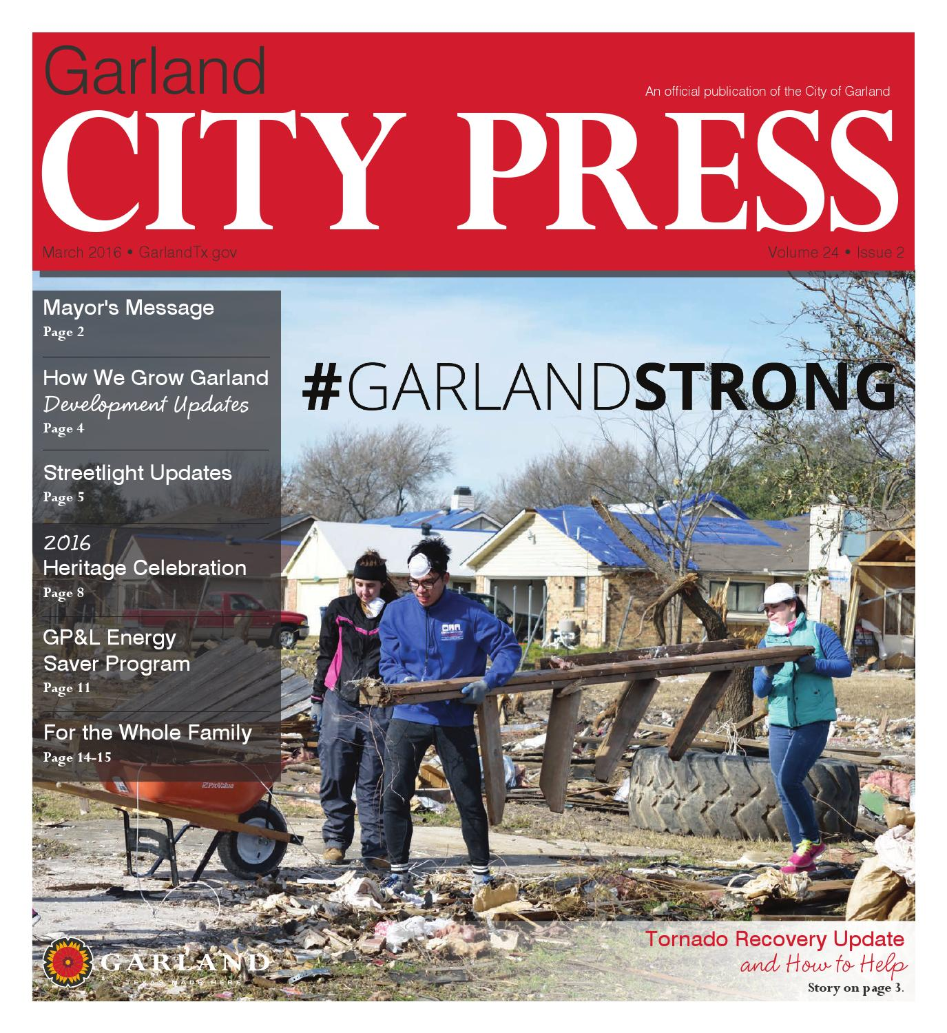Garland City Press March 2016 by City of Garland Texas issuu
