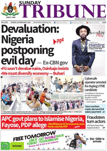 f7399d4cffea72 28th February 2016 by Nigerian Tribune - issuu