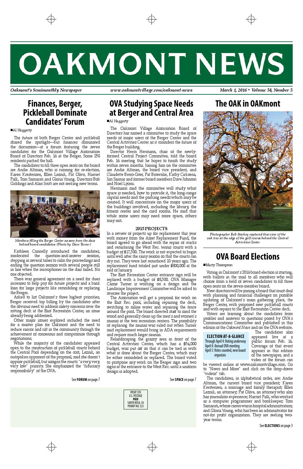 March 1 edition of the oakmont news by oakmont village issuu for The oakmont