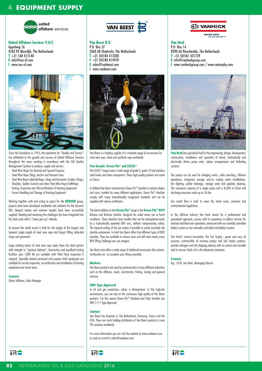 IRO Netherlands Oil & Gas Catalogue 2016 by Pedemex BV - issuu