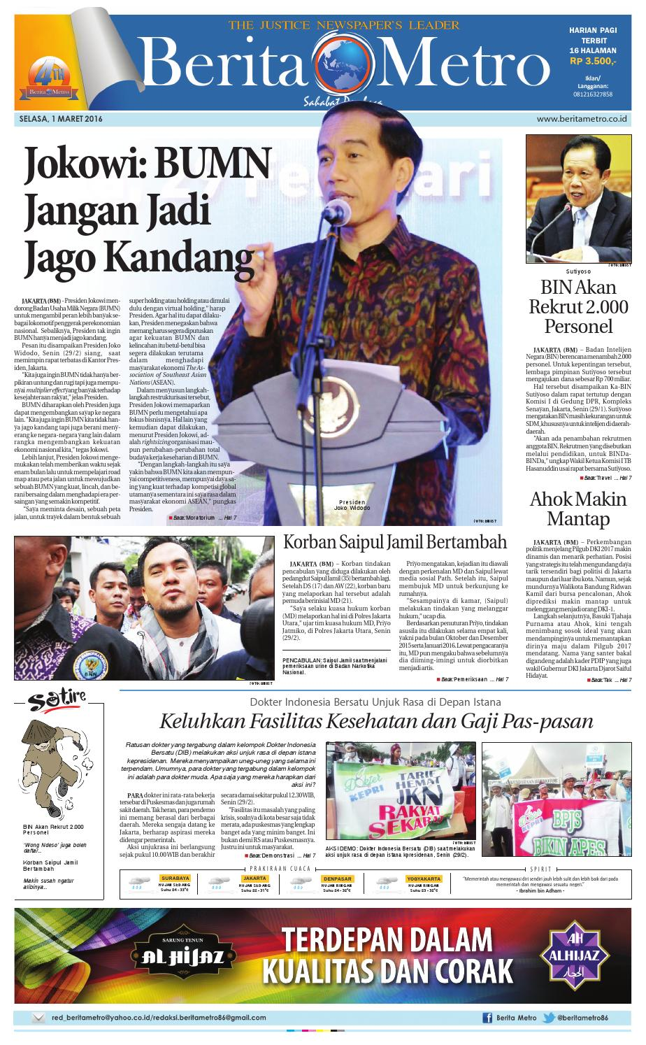 Radar Pekalongan 17 Februari 2017 By Issuu Produk Ukm Bumn Batik Tulis Babon Angrem Berita Metro 1 Maret 2016