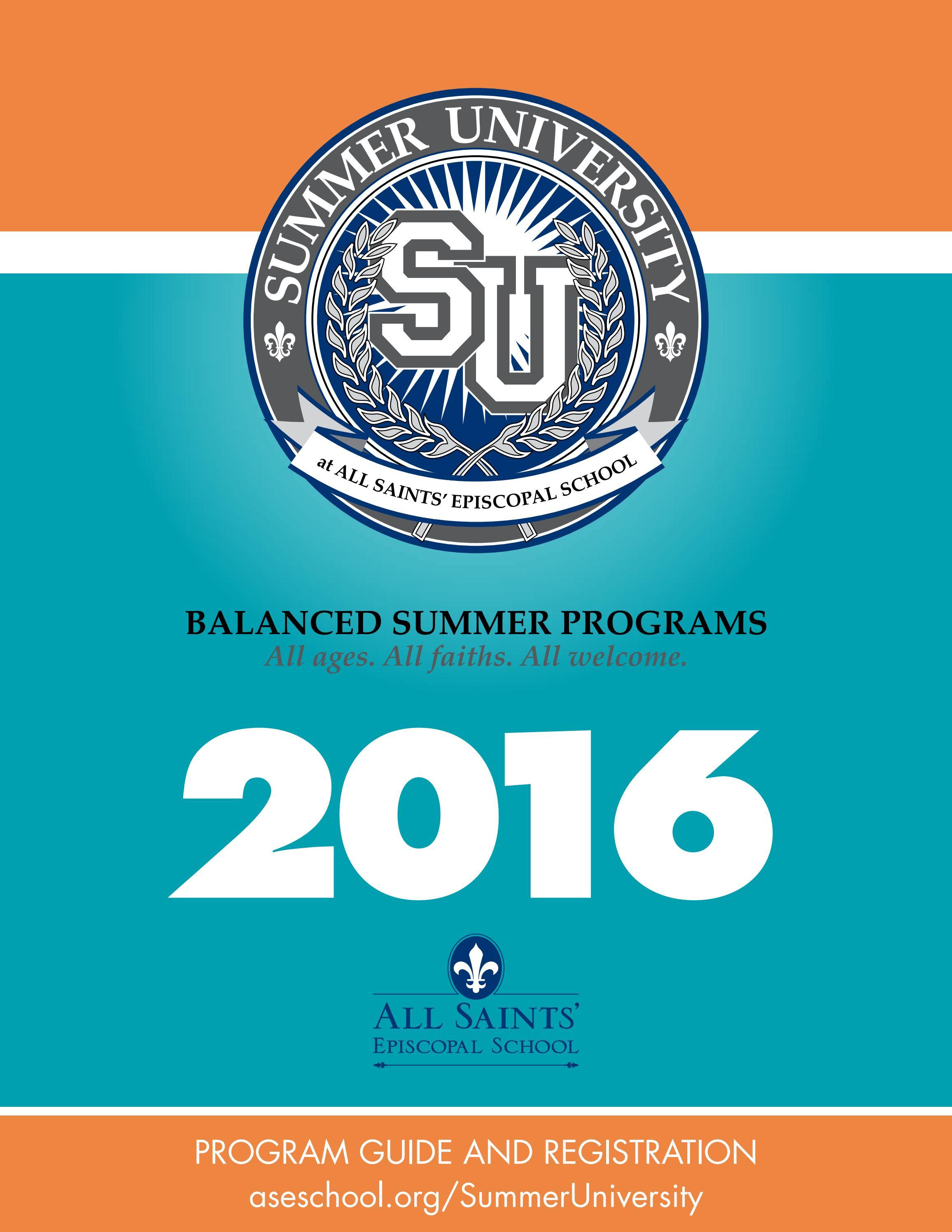 Summer University at All Saints\', 2016 by Meg Hasten - issuu