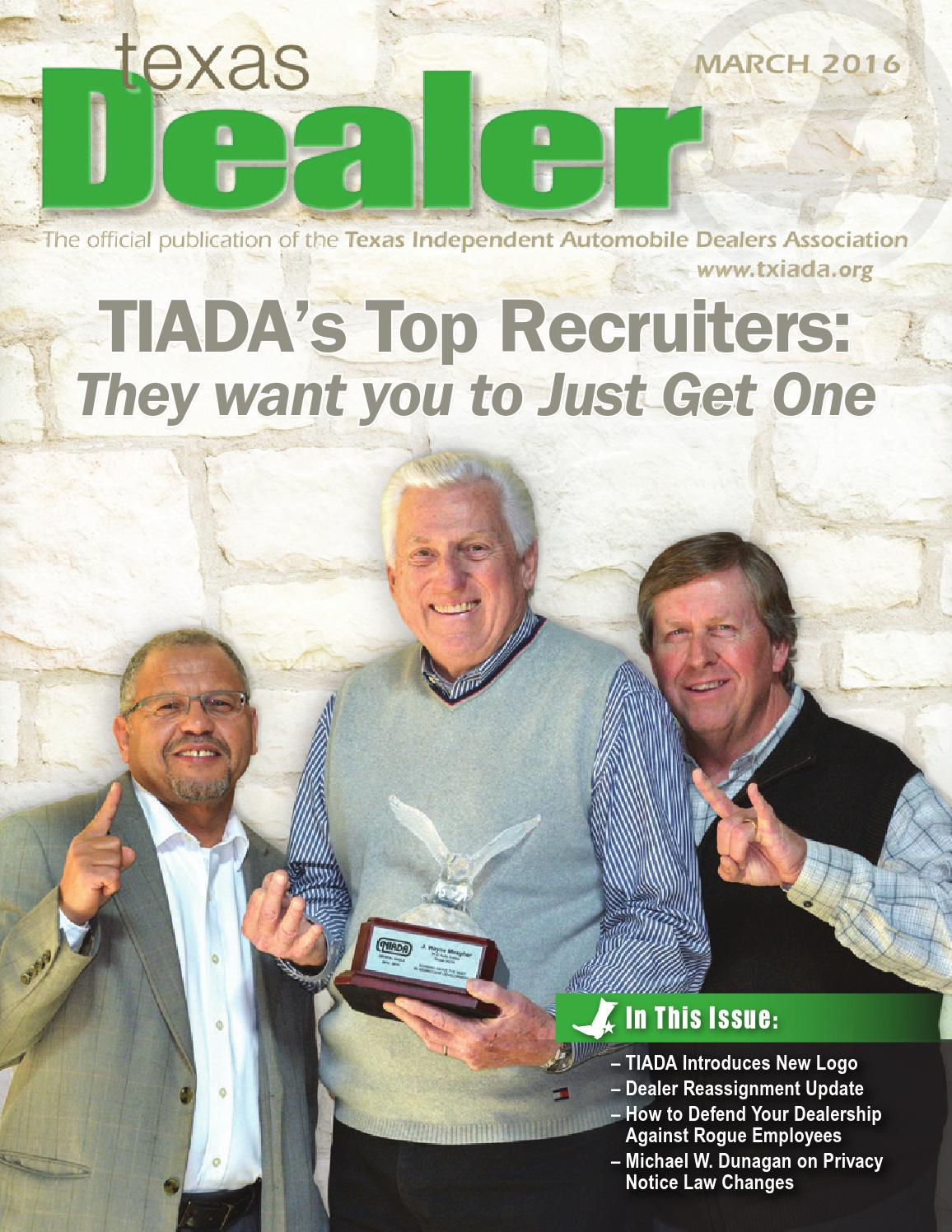 texas dealer march 2016 by texas independent auto dealers association issuu. Black Bedroom Furniture Sets. Home Design Ideas