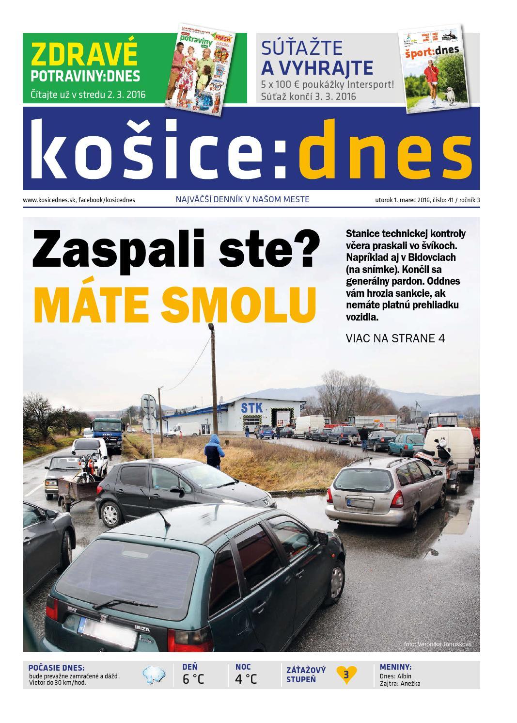 košice dnes 1.3. 2016 by KOŠICE DNES - issuu b81596a4c78
