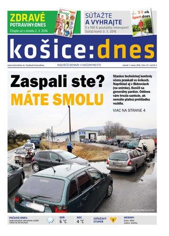 85fcfa3ed959e košice:dnes 1.3. 2016 by KOŠICE:DNES - issuu