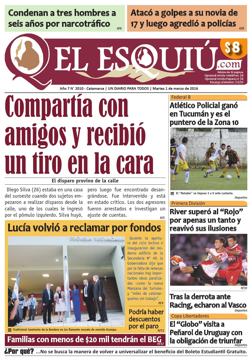 El Esquiu Com Martes 01 De Marzo De 2016 By Editorial El Esqui  # Muebles Tamara Fox Rancagua