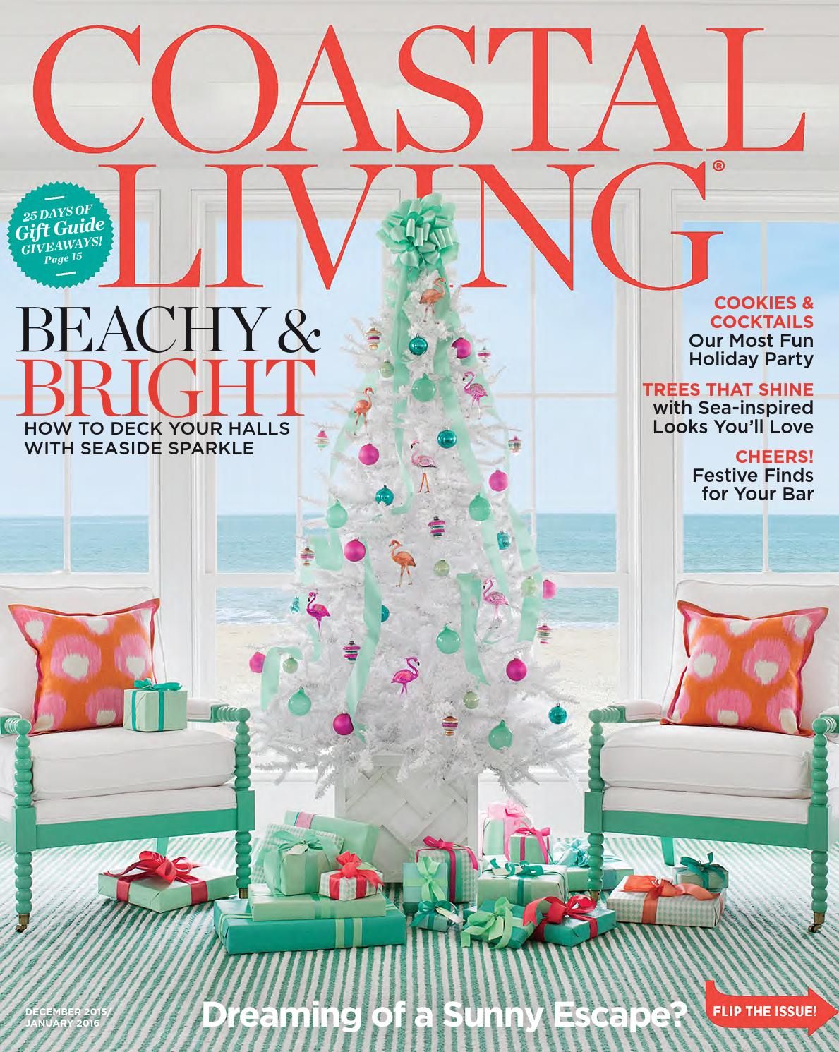 Coastal Living December 2015 January 2016 By Thiet Ke Nha