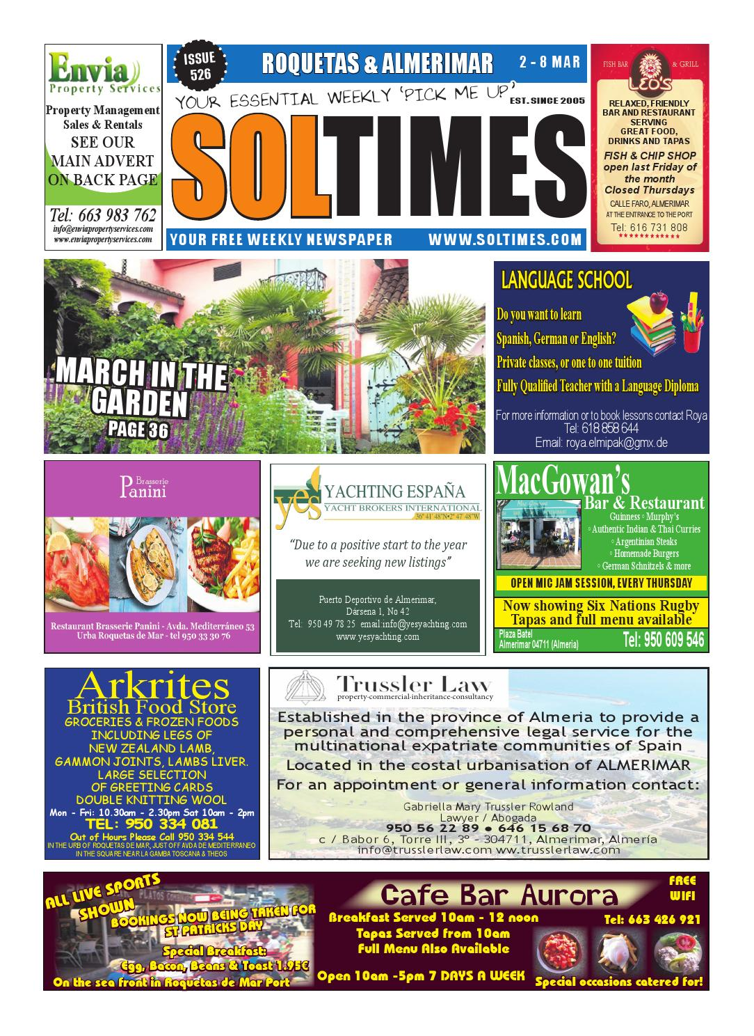 Roquetas 526 by Sol Times - issuu