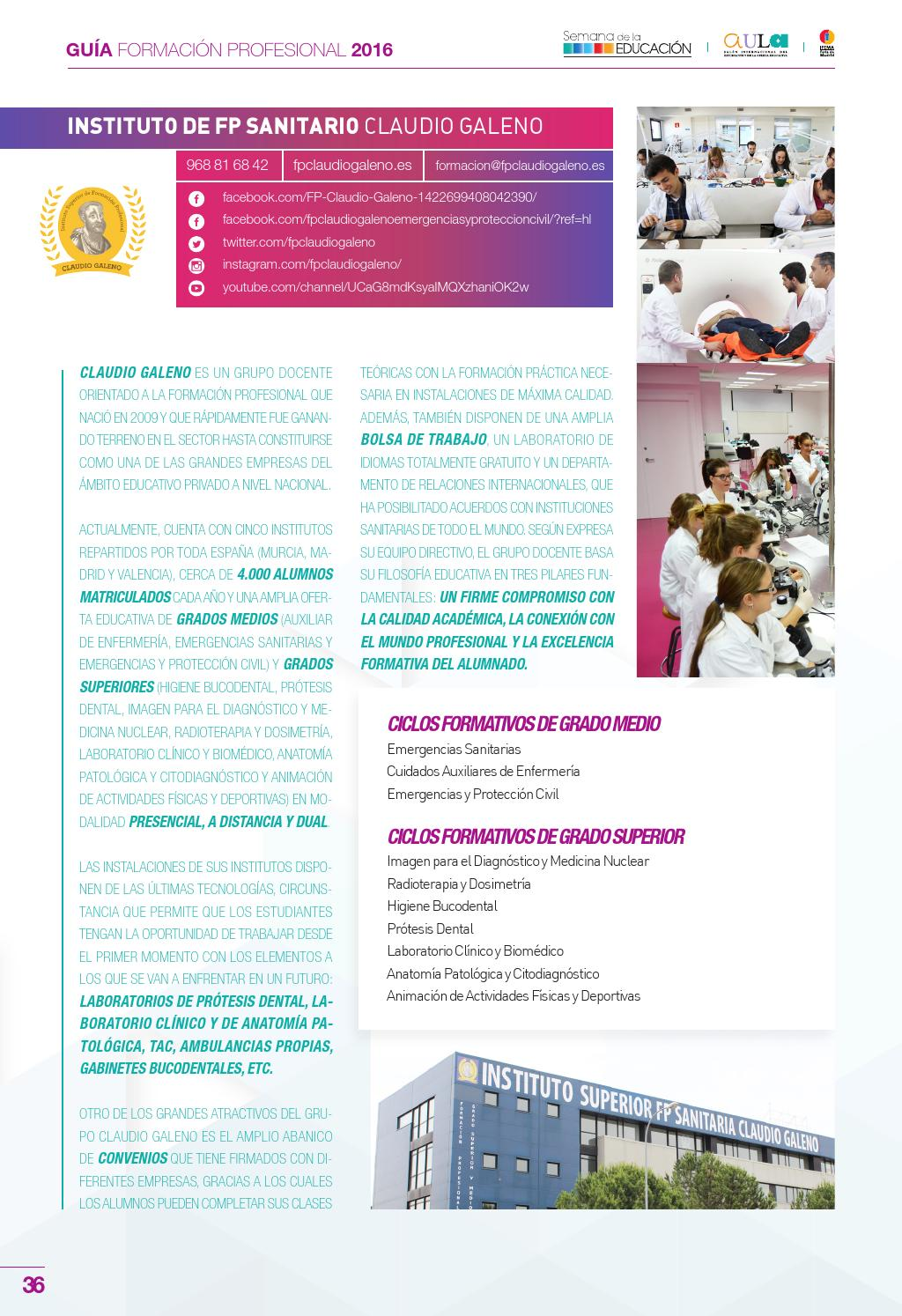 Guia Ifema Formación Profesional 2016 By Aula Magna Issuu