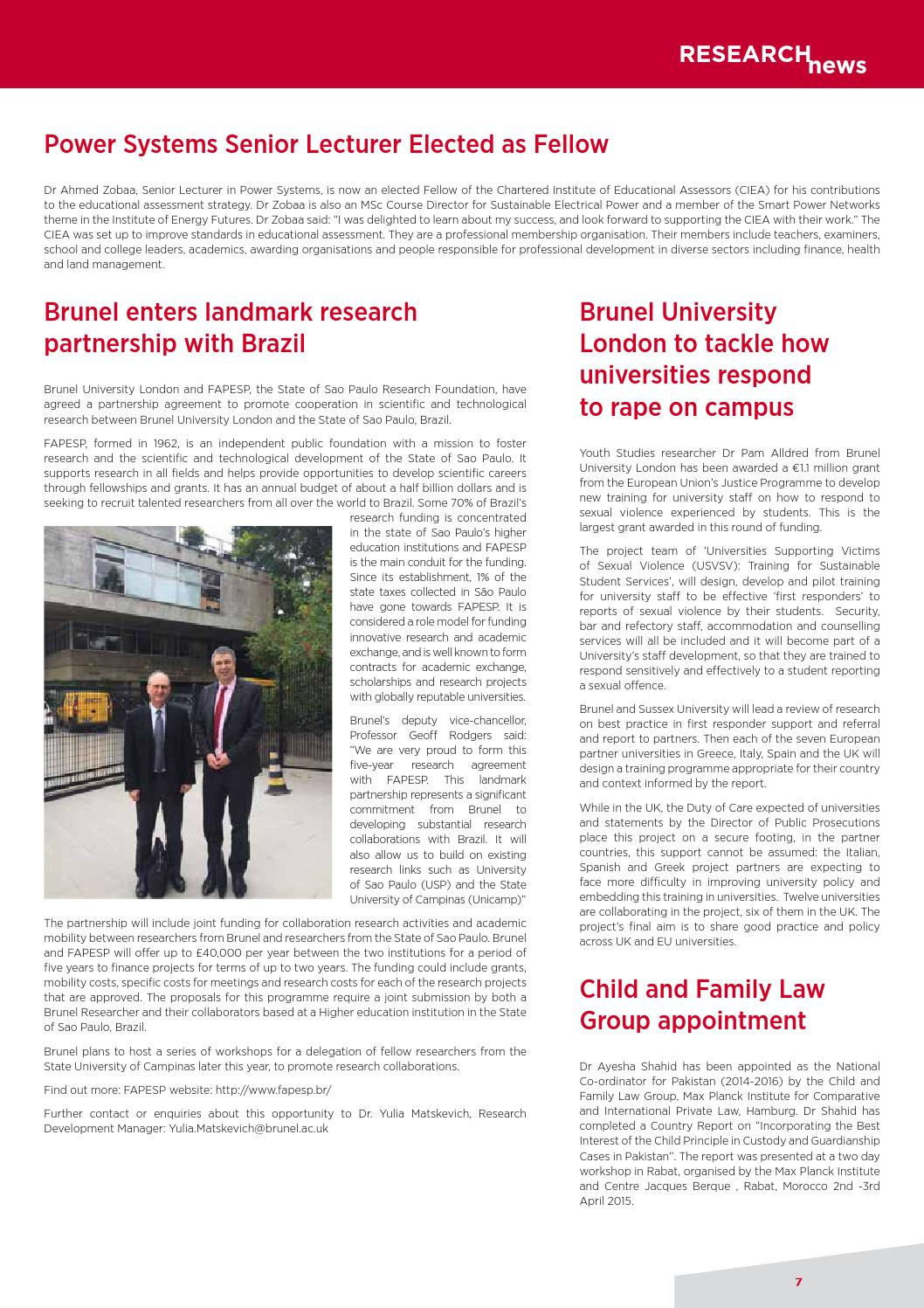 Leading Edge issue 33 Spring 2016 by Brunel University