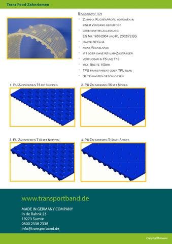 Produktübersicht transportband de by zingst - issuu