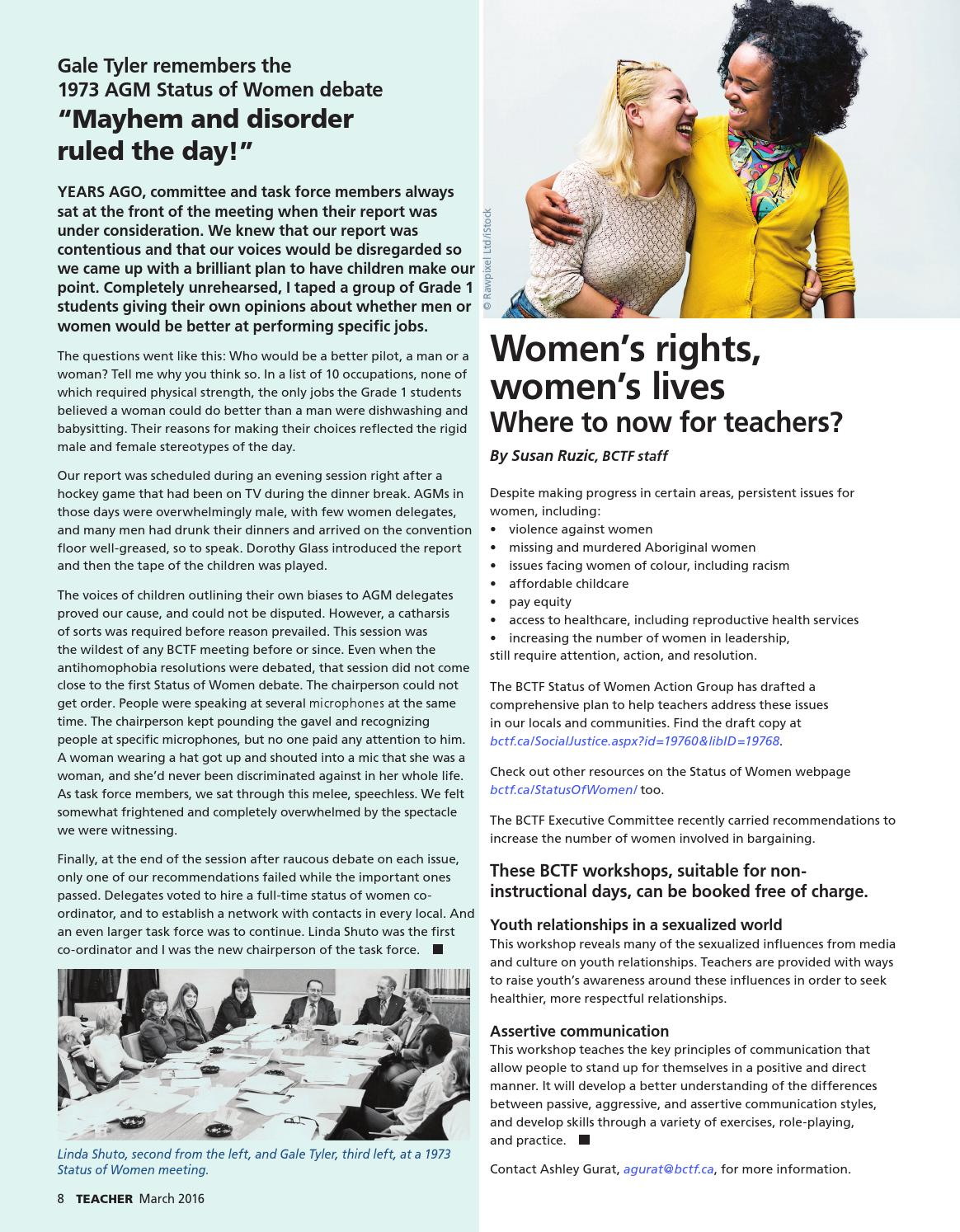 Teacher Magazine March 2016 by BC Teachers' Federation - issuu