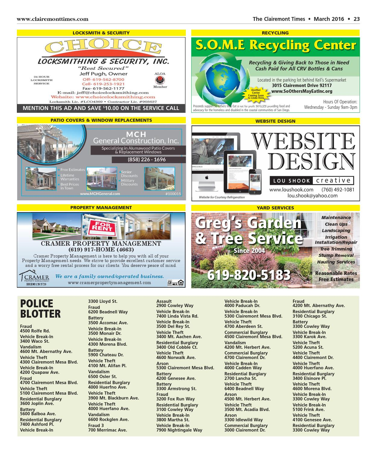 Clairemont Times March 2016 by Clairemont Times - issuu