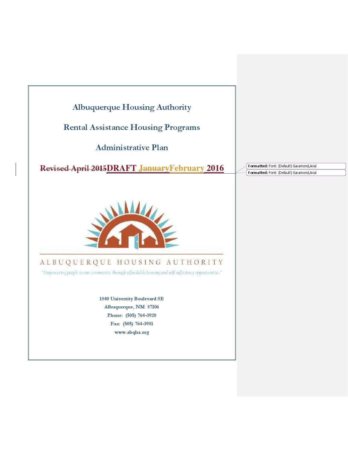 Red line copy section 8 admin plan fy2017 draft by