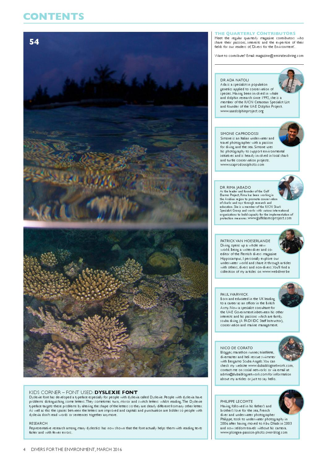 Divers For The Environment March 2016 by Divers for the