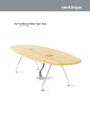 Vox Conference Tables Taper Base By Nienkamper Issuu - Vox conference table
