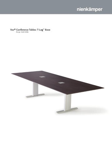 Vox Conference Tables TLeg Base By Nienkamper Issuu - Vox conference table