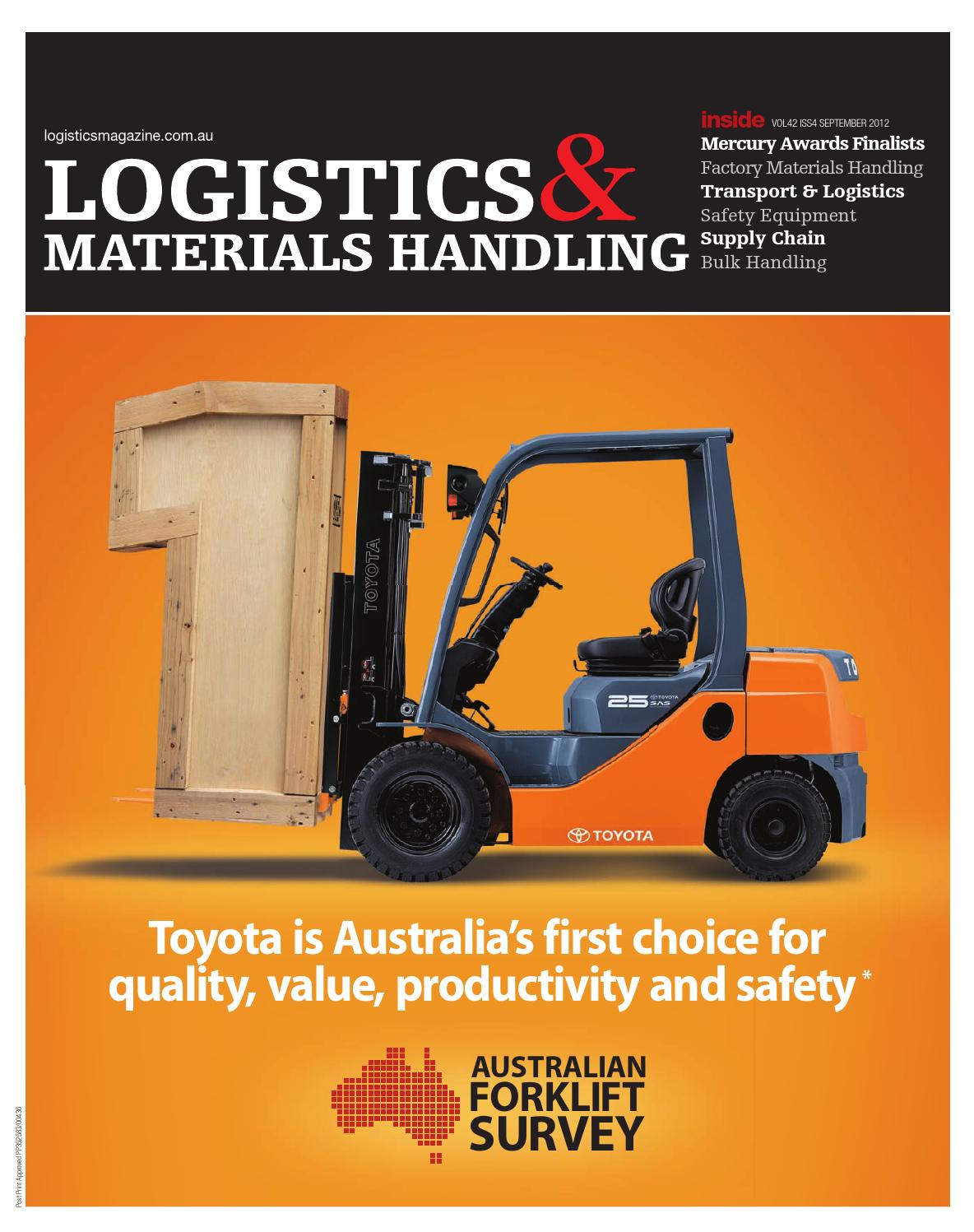 Logistics Materials Handling September 2012 By Primecreative Issuu Toyota Developing Worldfirst Vehicle Wiring Harnesses Recycling