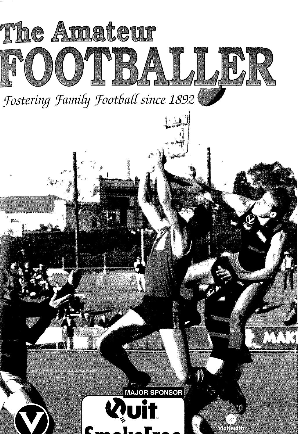 The Amateur Footballer Week 5 1997 By Andrew Leonard Issuu Small Snack Time Acs Tlt Series