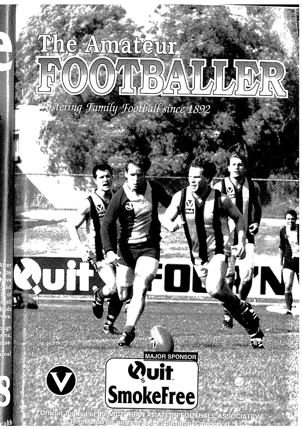 The Amateur Footballer, Week 10, 1997 by Andrew Leonard - issuu