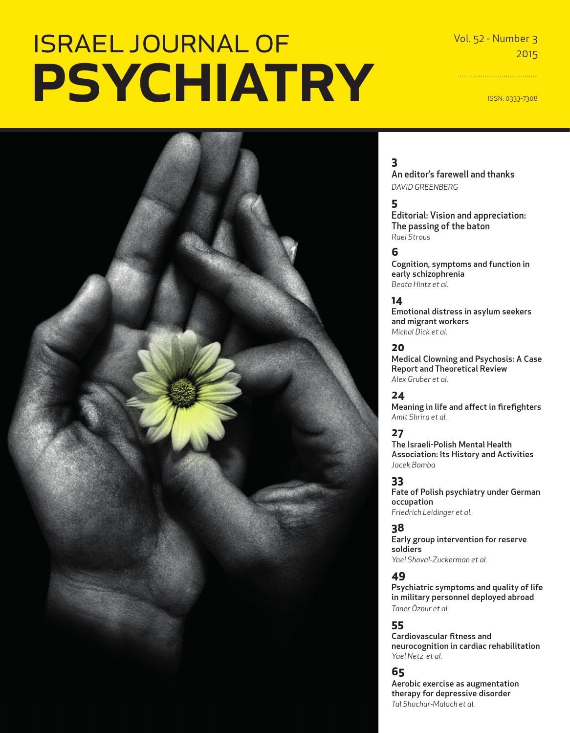 e71caf8e712 IJP  Israel Journal of Psychiatry  Vol  52