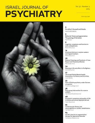 Ijp Israel Journal Of Psychiatry Vol 52 Issue 3 By Medic Issuu