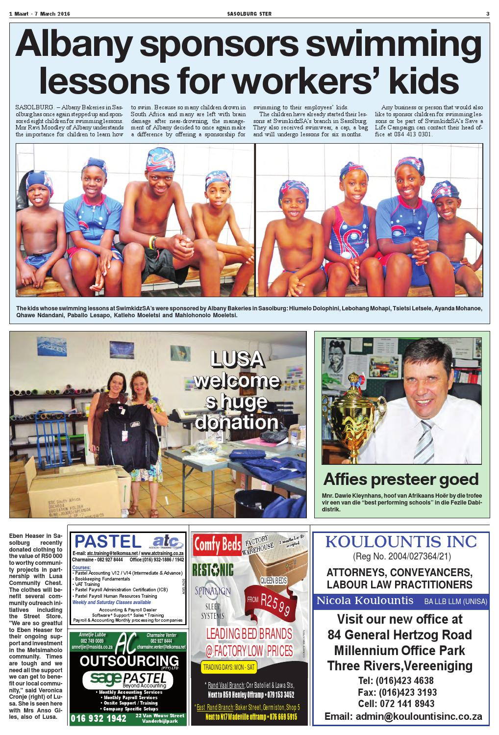 Sasolburg Ster 1 - 7 March 2016 by MooiVaal Media - issuu