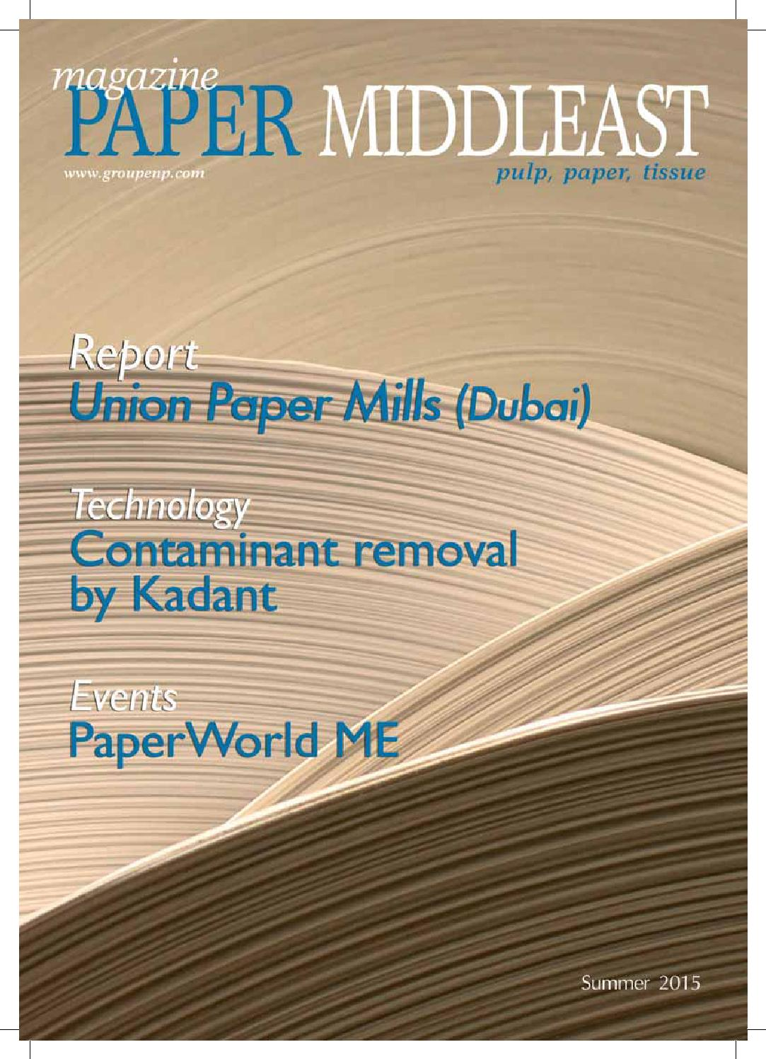 Paper MiddlEast 26 Summer 2015 by ENP Publishing - issuu