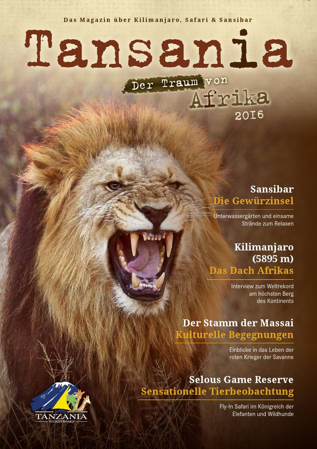 Tansania Magazin 2016 By 7o7 Marketing - Issuu Leichte Schritte Veranda Erfrischen