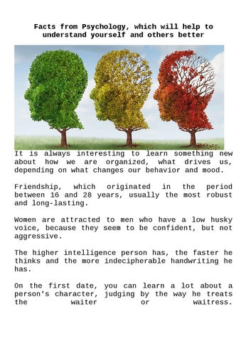 psychology dating facts