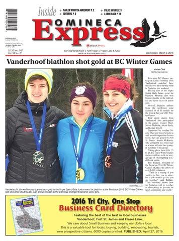Vanderhoof Omineca Express, March 02, 2016 by Black Press Media