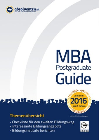MBA Postgraduate Guide 2016 by Business Cluster Network GmbH - issuu