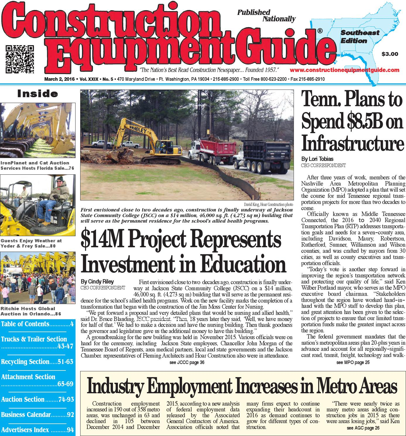 Southeast 05 2016 by Construction Equipment Guide - issuu