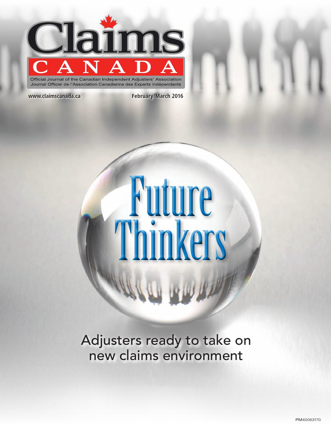 Claims Canada February March 2016 by Annex-Newcom LP - issuu