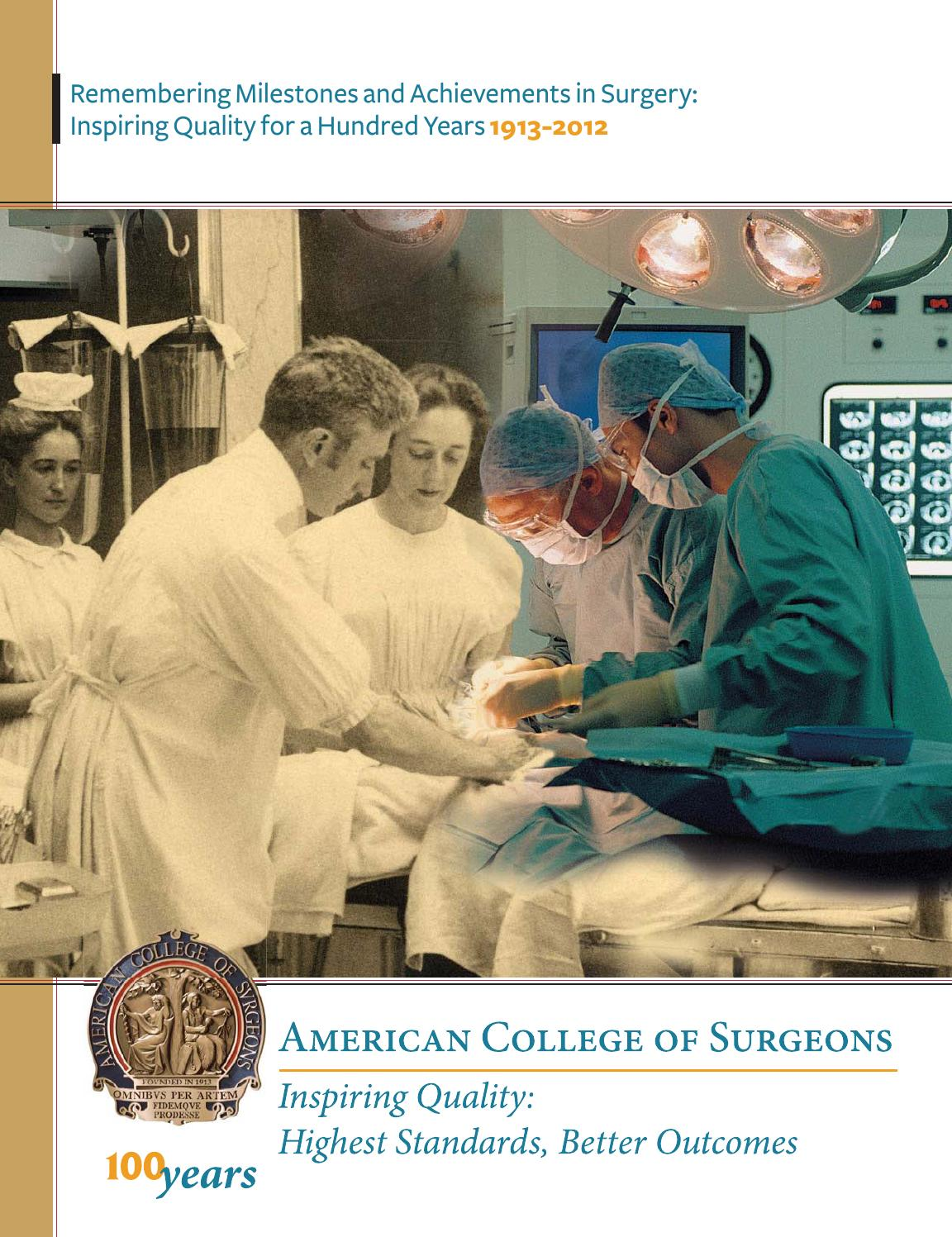 American College of Surgeons: Remembering Milestones and