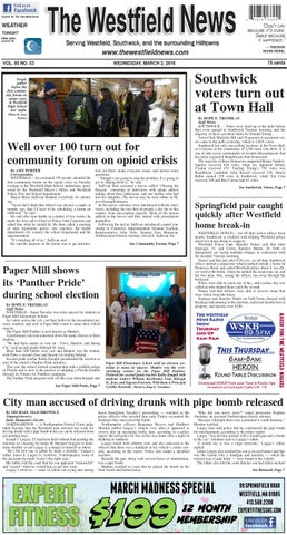 Wednesday March 2 2016 By The Westfield News