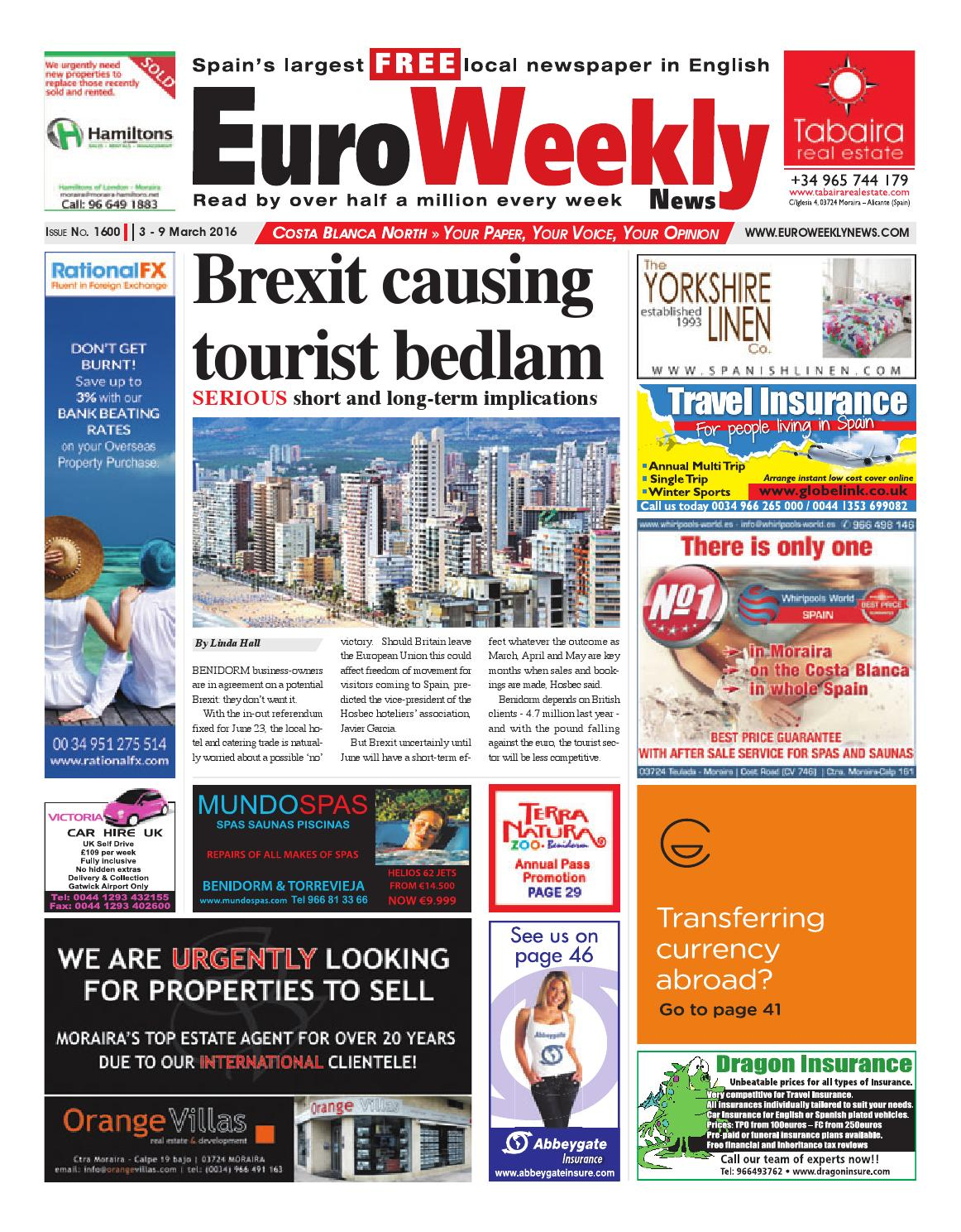 Euro Weekly News Costa Blanca North 3 9 March 2016 Issue 1600  # Muebles Nemesis Bahia Blanca